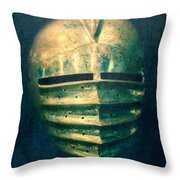 Maximilian Knights Armour Helmet Throw Pillow