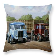 Max's Transport Cafe Throw Pillow