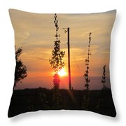 May 3 2013 Sunset Throw Pillow