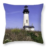 May At The Lighthouse Throw Pillow