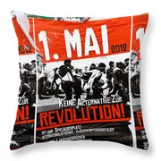 May Day 2012 Poster Calling For Revolution Throw Pillow
