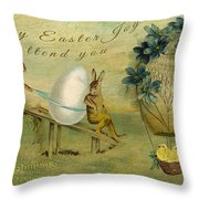 May Easter Joy Attend You Throw Pillow