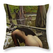 May Morning Arkansas River  2 Throw Pillow