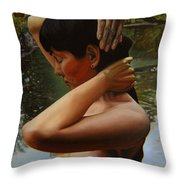 May Morning Arkansas River 3 Throw Pillow