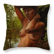 May Morning Arkansas River 4 Throw Pillow by Thu Nguyen