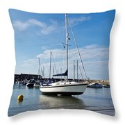 May Morning - Lyme Regis Throw Pillow