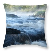 May Morning On The Pawcatuck Throw Pillow