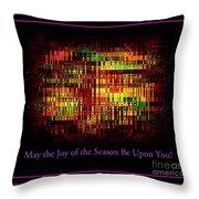 May The Joy Of The Season Be Upon You - Christmas Lights - Holiday And Christmas Card Throw Pillow