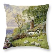 May Time Throw Pillow