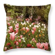 May Tulips Throw Pillow