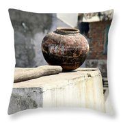 May Your Pots Be Filled With Cheer And Happiness Throw Pillow