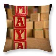 Maya - Alphabet Blocks Throw Pillow