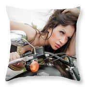 Maya And Harley Throw Pillow