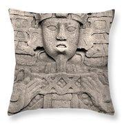 Maya Copan Throw Pillow
