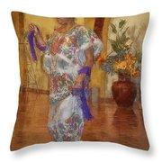 Maya Woman-mexico V2 Throw Pillow