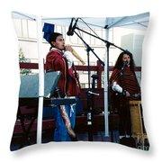 Mayan Music Throw Pillow