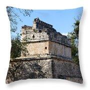 Mayan Ruin At Chichen Itza Throw Pillow