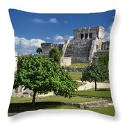 Mayan Ruins - Tulum Throw Pillow