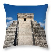Mayan Temple Pyramid At Chichen Itza Throw Pillow