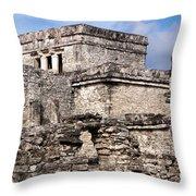 Mayan Tulum Throw Pillow