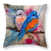 Maybe She's A Bluebird Throw Pillow