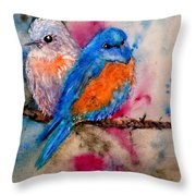Maybe She's A Bluebird Cropped Throw Pillow