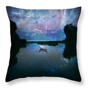 Maybe Stars Throw Pillow by Stelios Kleanthous