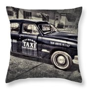 Mayberry Taxi Throw Pillow