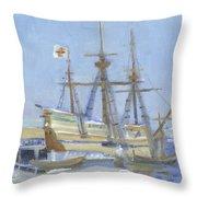 Mayflower At Birth Throw Pillow
