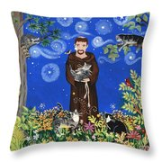 May's St. Francis Throw Pillow by Sue Betanzos