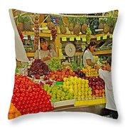 Mazatlan Centro Market-sinaloa Throw Pillow