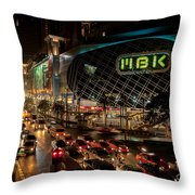 Mbk Bangkok  Throw Pillow