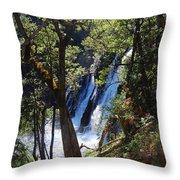 Mcarthur-burney Falls Side View Throw Pillow