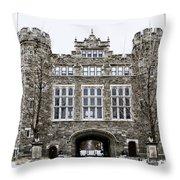 Mcbride Gateway - Bryn Mawr College Throw Pillow