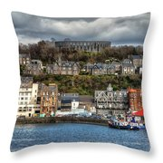 Mccaig's Tower At Oban Throw Pillow