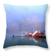 Mcclure Ferry Throw Pillow by Theresa Tahara