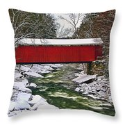 Mcconnells Covered Bridge Throw Pillow
