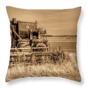 Mccormic Harvester In Sepia 5 Throw Pillow