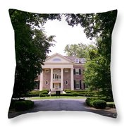 Mccormick Mansion From The Drive Throw Pillow