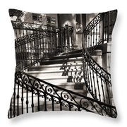 Mccormick Mansion Staircase Throw Pillow