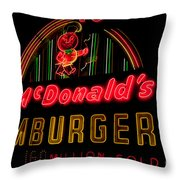 Mcdonalds Sign Throw Pillow