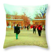 Mcgill Univ Students And Faculty College Campus Montreal Memories Collectible Art Prints C Spandau Throw Pillow