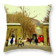 Mcgill University Roddick Gates Class Of 2013 Winter Semester Montreal Collectible Prints C Spandau Throw Pillow