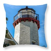 Mcgulpin Point Lighthouse Michigan Throw Pillow