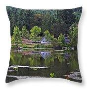 Mcintosh Lake In Washington Throw Pillow