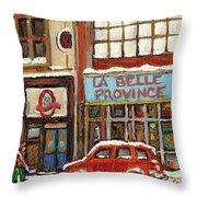 Mcleans Irish Pub Montreal Throw Pillow