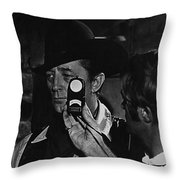 Mcq And Rooster Cogburn Homage Robert Mitchum And Harry Stradling Jr Throw Pillow