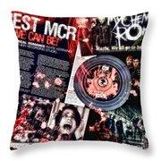 MCR Throw Pillow