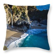 Mcway Falls Julia Pfeiffer Bruns State Park Ca Throw Pillow
