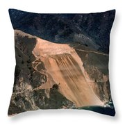 Aerial Of Mcway Landslide Big Sur California 1984 Throw Pillow